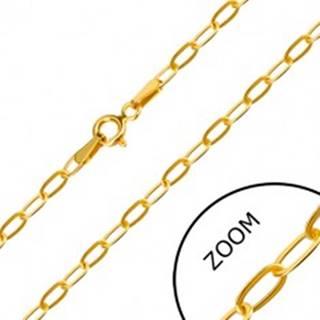 Zlatá retiazka 585 - ploché podlhovasté očká, perový krúžok, 450 mm