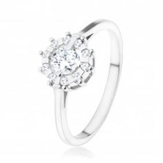 Zásnubný prsteň - striebro 925, trblietavé zirkónové slnko čírej farby - Veľkosť: 48 mm