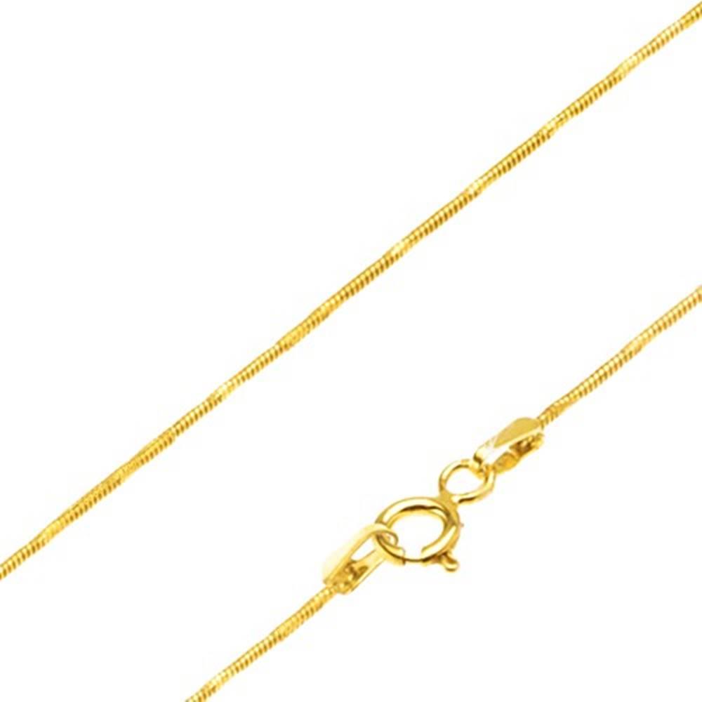 Šperky eshop Zlatá retiazka 585 - články so vzorom hadej kože, jemné zárezy, 500 mm