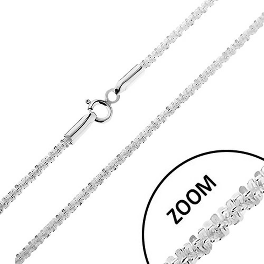 Šperky eshop Ligotavá strieborná 925 retiazka - husto spájané očká do špirály, šírka 2 mm, dĺžka 550 mm