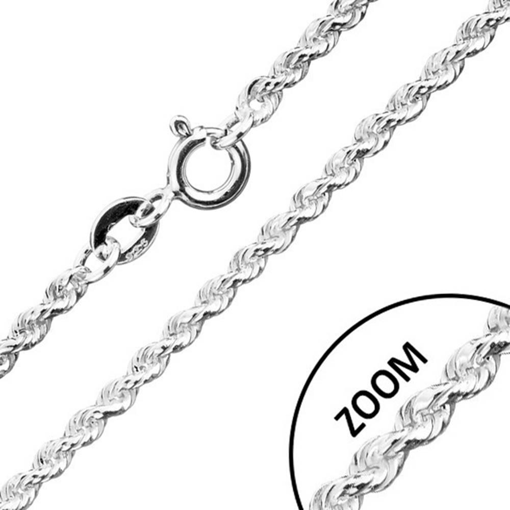 Šperky eshop Retiazka zo striebra 925, špirálovo spájané očká, šírka 1,8 mm, dĺžka 500 mm