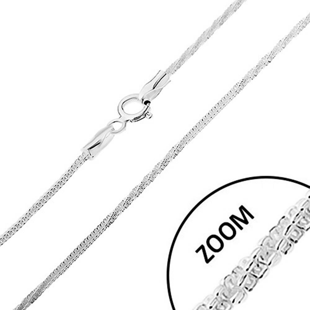 Šperky eshop Strieborná 925 retiazka, vzor hadík - rovné a stočené časti, šírka 1,7 mm, dĺžka 550 mm