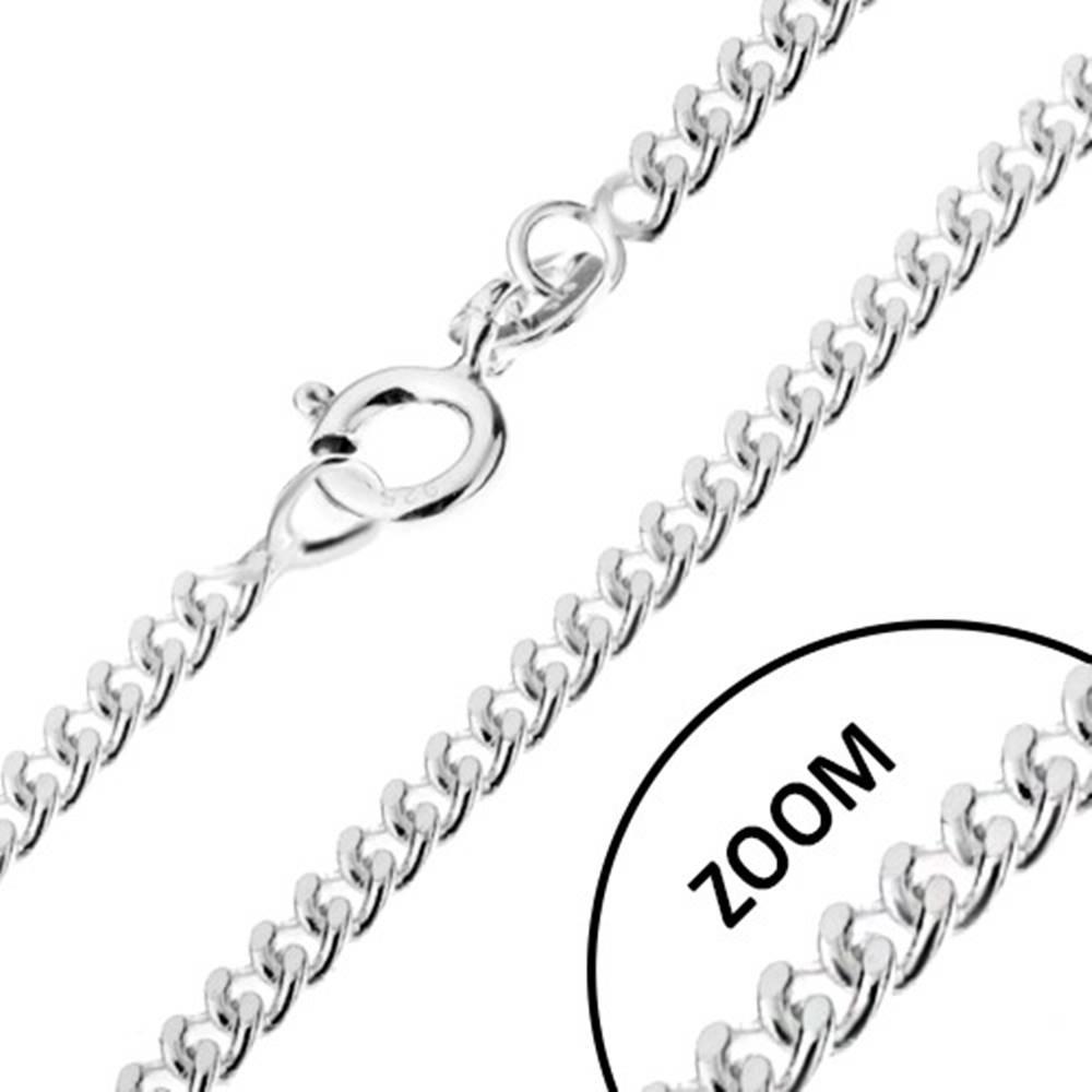 Šperky eshop Strieborná 925 retiazka, zatočené okrúhle očká, šírka 1,4 mm, dĺžka 600 mm