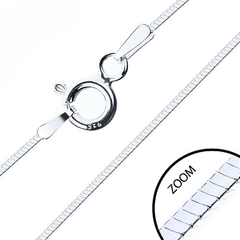 Šperky eshop Tenká štvorhranná retiazka, striebro 925, šírka 0,6 mm, dĺžka 500 mm