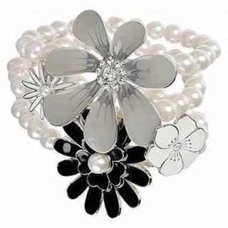Náramok Noble Pearl Crystal-Biela