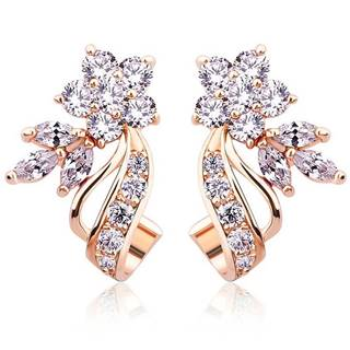 Náušnice Flower Bamoer - Crystal