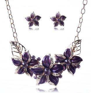Set šperkov Varnish Flower - Fialová
