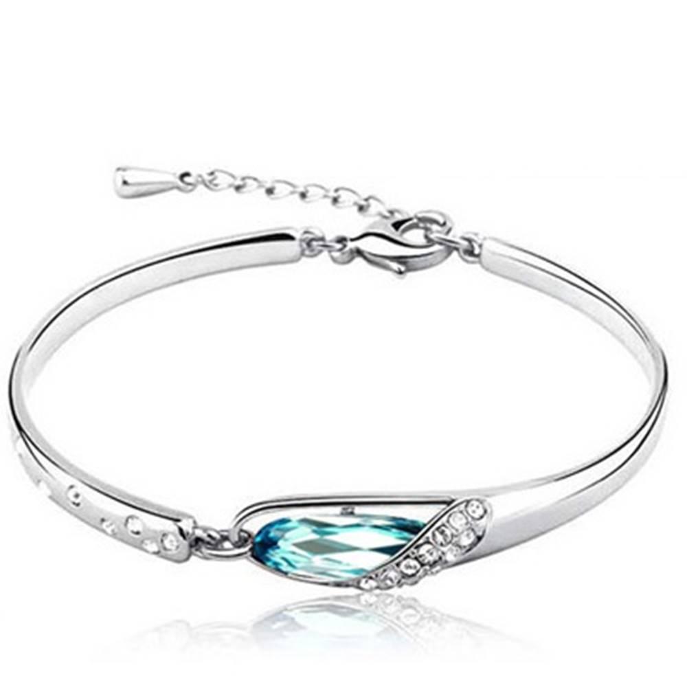 Izmael Náramok bridal crystal - Modrá