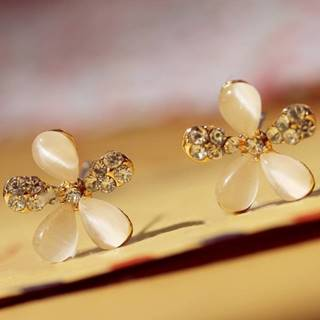 Náušnice Opal Crystal Flower