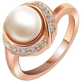 Prsteň Bridal Pearl - Zlatá / 55mm