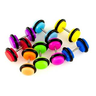 Fake plug do ucha akrylový - Priemer: 10 mm, Farba: Zelená